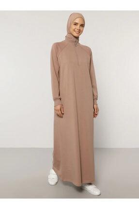 Everyday Basic Kadın Camel Fermuar Detaylı Spor Elbise 1669005