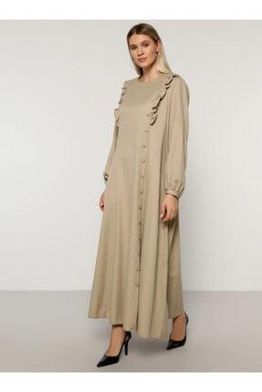 Alia Kadın Vizon Volan Detaylı Elbise 1693823