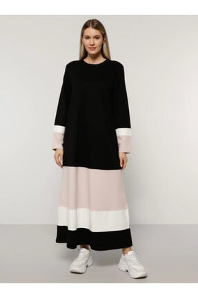 Alia Kadın Ekru Garnili Elbise 1691002