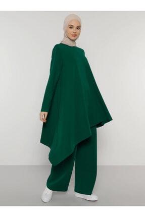 Everyday Basic Kadın Yeşil Doğal Kumaşlı Tunik&Pantolon İkili Takım 1677554