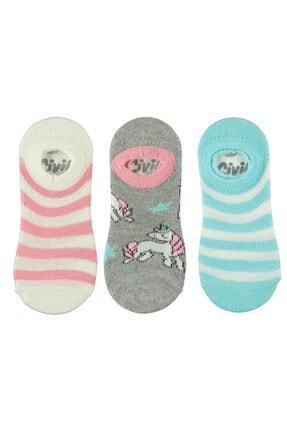 Civil Kız Çocuk 3'lü Babet Çorap