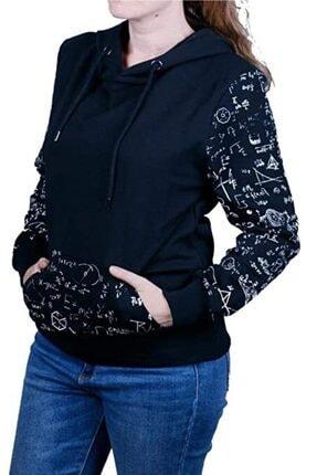 Cazador Kadın Siyah 2 İplik Kapüşonlu Sweatshirt