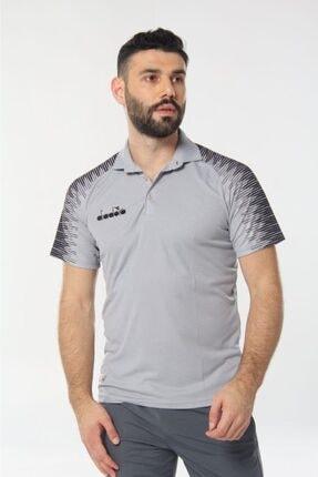 Diadora Unisex Gri Ritim Kamp Polo T-shirt