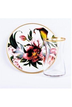 Porselen Çiçek Desen Çay Takımı 17203