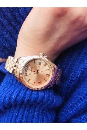 Homies Rose Gold Takvimli Kadın Kol Saati 9007 Series