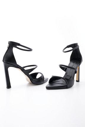 Marjin Kadın Siyah Platform Topuklu Ayakkabı Otela