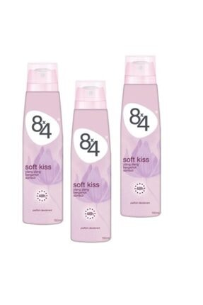 8x4 Soft Kiss 150 Ml Deodorant X 3