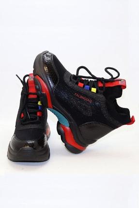 Guja Kadın Siyah Boğazlı İçten Hafif Gizli Topuklu Spor Ayakkabı