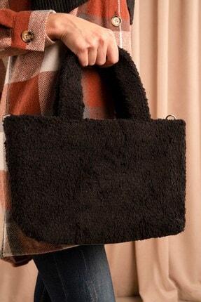Hadise Kadın Siyah Peluş Kol Çanta