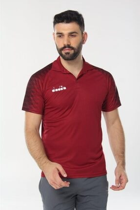 Diadora Unisex Bordo Ritim Kamp Polo T-shirt