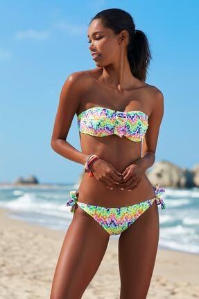 No Gossip Kadın Tulum Bağcık Bikini Alt 209205-D Leopard