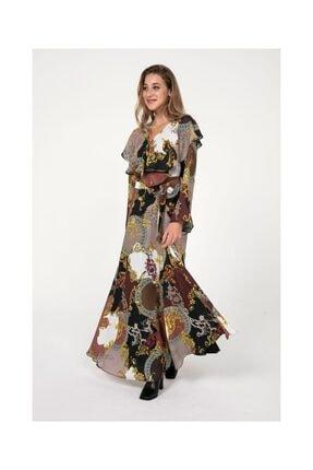 Tiffany K20145 Sarmaşık Uzun Anvelop Elbise