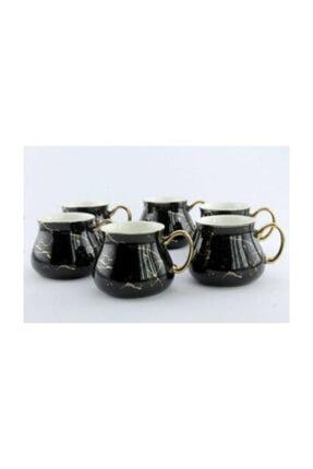 Arow Porselen Mermer Görünümlü 6'lı Kupa Set AROW