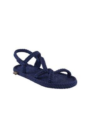 NOMADIC REPUBLIC Mykonos Kadın Halat & İp Sandalet - Lacivert