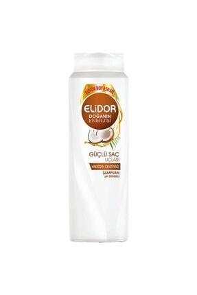 Elidor Güçlü Saç Uçları Hindistan Cevizi Yağı Şampuan 650 ml 4 Adet