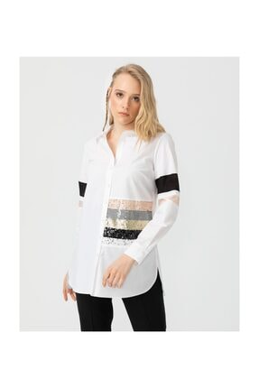 Seçil Payet Ve Şerit Detaylı Gömlek