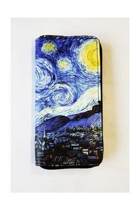 Köstebek Van Gogh - The Starry Night - Yıldızlı Gece Kadın Cüzdan