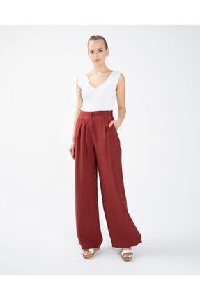 Seçil Pileli Bol Kiremit Pantolon