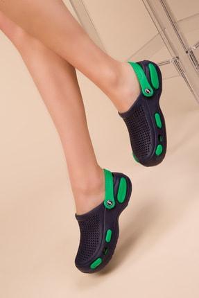SOHO Lacivert Yeşil Kadın Terlik 14936