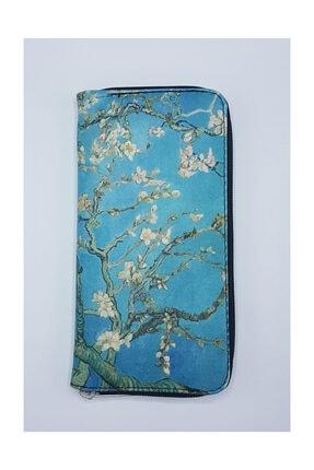 Köstebek Art - Vincent Van Gogh - Çiçek Açan Badem Ağacı Kadın Cüzdan