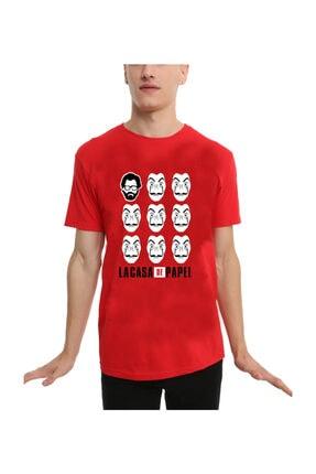 Köstebek Unisex La Casa De Papel - Profesor And Masks T-shirt