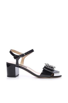 Kemal Tanca Hakiki Deri Siyah Kadın Kalın Topuklu Ayakkabı 613 23441 BYN AYK