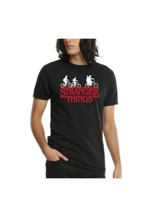 Köstebek Siyah Stranger Things - Bicycle Children Unisex T-Shirt