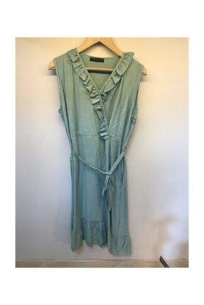 Mint Yeşili Elbise GZD-dksmintvolanlıelb