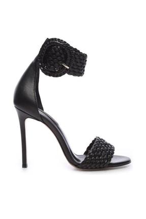 Kemal Tanca Hakiki Deri Siyah Kadın Klasik Topuklu Ayakkabı 299 10595 02 BN AYK Y19