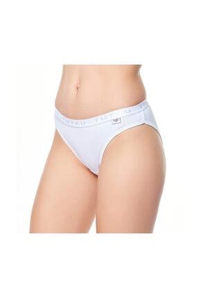 Tutku Kadın Düz Renkli Bikini Külot 6'lı Paket
