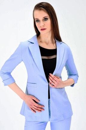 Jument Yakalı Kapri Trovakar Kol Süs Cepli Kopçalı Ofis Şık Ceket-mavi