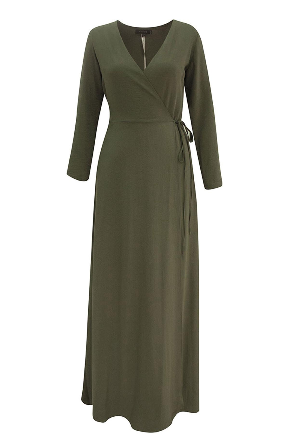 RİVUS Kadın Haki Elbise 1300