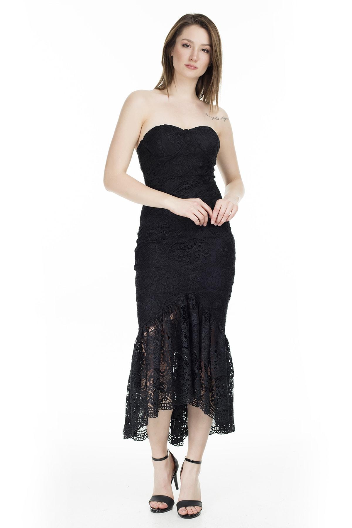Ayhan Straplez Elbise KADIN ELBİSE 04661000