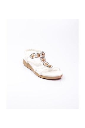 Guja Kadın Sandalet Beyaz Bej-40 150 - 13