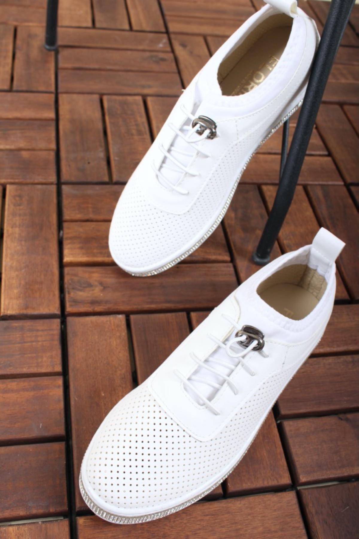 Oksit Giyim Num Taşlı Rahat Kadın Sneaker