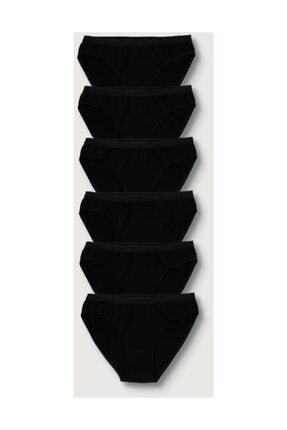 Tutku Kadın Siyah 6'lı Paket  Bikini Külot ELF568T0635CCM6 Siyah Tek Ebat