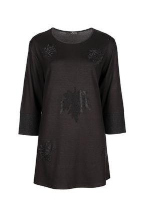 Butik Triko 3801 Yaprak Taşlı Bluz