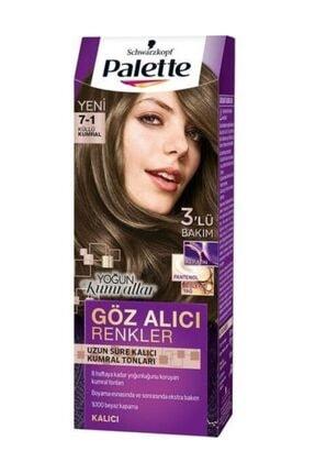 Palette Yoğun göz Alıcı Renkler 7-1 Küllü Kumral Saç Boyası