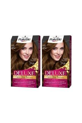 Palette Deluxe 5-5 Işıltılı Çikolata  X 2 Adet