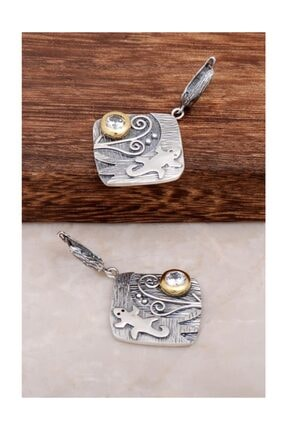Sümer Telkari Kertenkele Tasarım Gümüş Küpe 4541