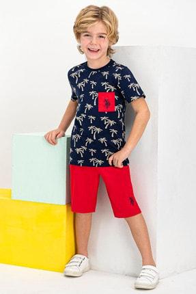 U.S Polo Assn. Lisanslı Lacivert Erkek Çocuk Bermuda Takım