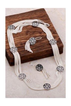 Sümer Telkari Midyat Hasırı Asur Motifli Tasarım Gümüş Set 2051