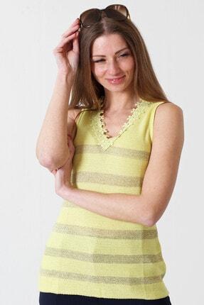Herry Kadın Sarı Bluz 20dt9012