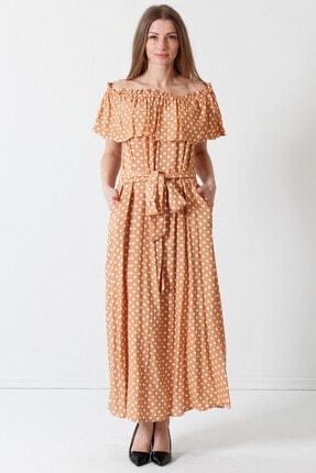 Herry Kadın Hardal Elbise 19pya6587