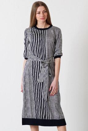 Herry Kadın Laci-beyaz-çizgili Elbise 20pya6036