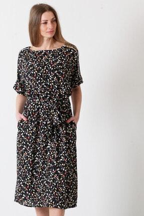 Herry Kadın Siyah-kırmızı Elbise 20pya6062
