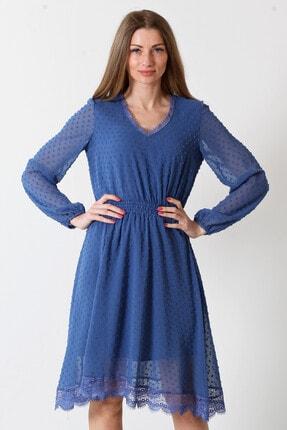 Herry Kadın Mavi Elbise 20fy60076