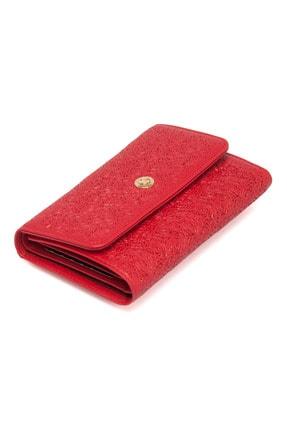 Tergan Kırmızı Deri Kadın Cüzdanı 05788d39