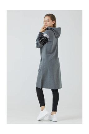 Sementa Kadın Payetli Fermuarlı Tunik - Antrasit
