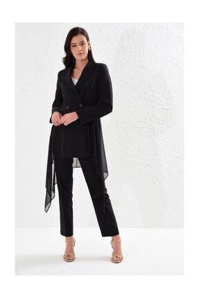 Setre Kadın Mixli Ceket Ve Kalem Pantolon Takım - Siyah